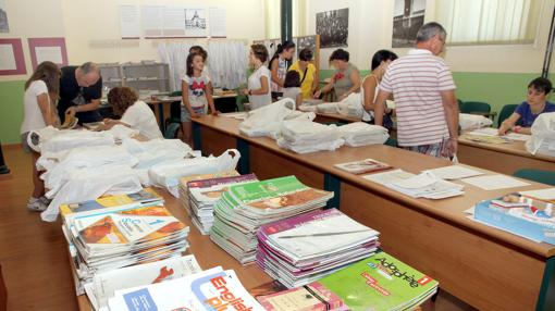 Programa de préstamo de libros en un centro escolar palentino