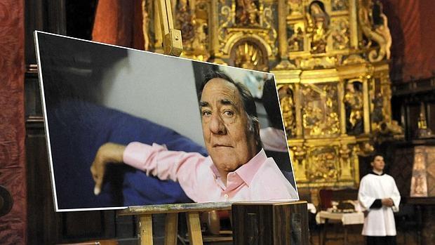Imagen del humorista durante la misa en su memoria, el pasado año