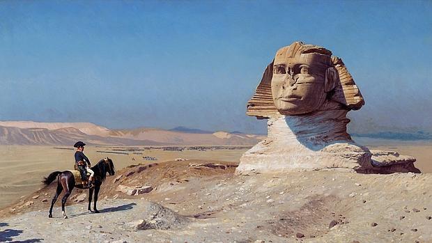Napoleón junto a la esfinge
