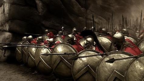 Fotograma de la película los «300», que recrea de forma fantasiosa la vida de los soldados de Esparta