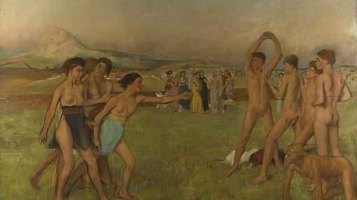 Jóvenes espartanos, de Edgar Degas