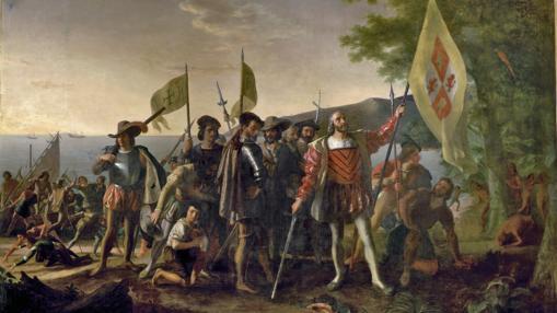 Cristóbal Colón tomando posesión de las Indias Occidentales