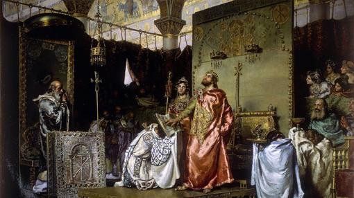 «Conversión al cristianismo de Recaredo» de Muñoz Degrain (1888).