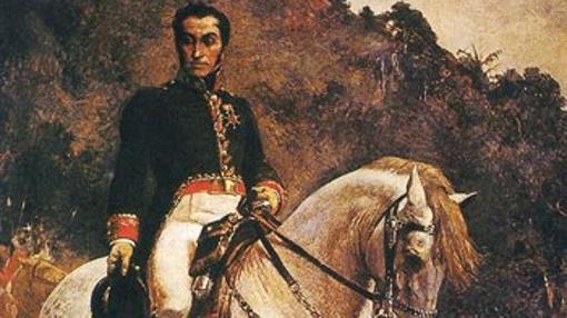 Simón Bolívar, a caballo