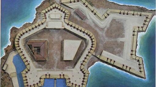 Planta del castillo de San Felipe