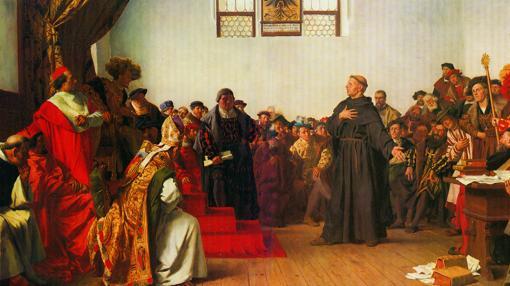 Lutero en Worms contra Carlos V, por Anton von Werner