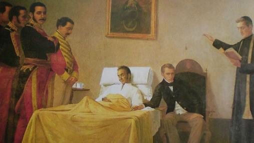 La Muerte del Libertador Simón Bolívar