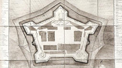 Plano de la fortaleza del Real Felipe, en Callao