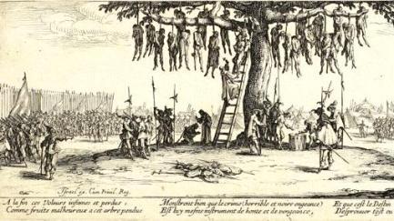 Imagen de la serie Las miserias de la guerra de Jacques Callot.