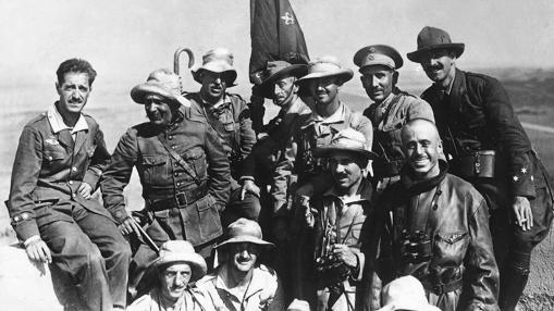 Francisco Franco, comandante de la primera bandera de la Legión, EN 1923