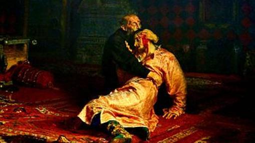 Iván llegó a matar a su hijo mayor durante un ataque de ira, como muestra este cuadro