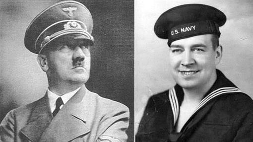 Hitler y su sobrino (que posteriormente se alistó a la marina de los EE.UU.