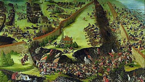 Batalla de Pavía, por Ruprecht Heller