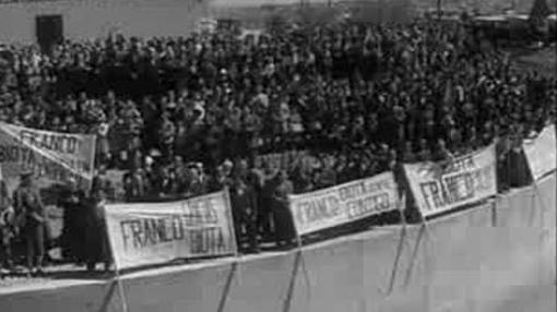 Franco inaugura el pantano de Yesa