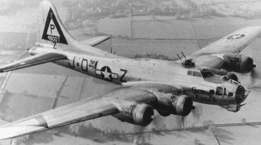 B-17 en una imagen de época
