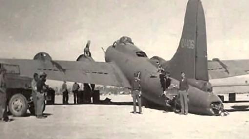 B-17, en el suelo