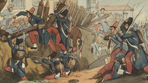 La Legión Francesa Argelina en pleno ataque contra una trinchera carlista