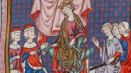 Consejo de nobles presidido por Jaime II de Aragón
