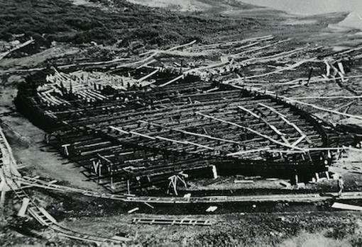 Los restos de uno de los barcos de Calígula