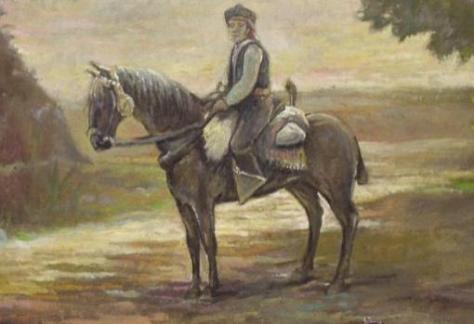 Bandolero rondeño, cabalgando