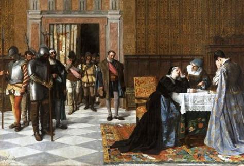 Doña María Pacheco después de Villalar, de Vicente Borrás y Mompó