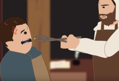 """Barberos conocidos como """"sacamuelas"""""""