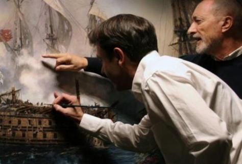 Pérez-Reverte asesoró a Ferrer-Dalmau en la realización del cuadro del Glorioso