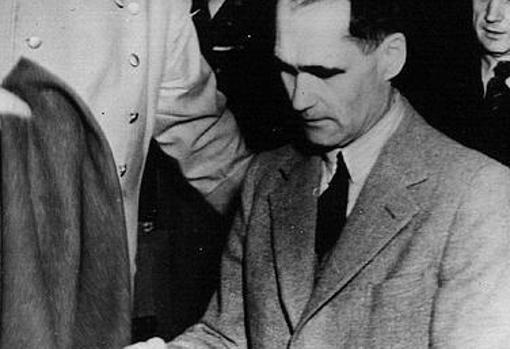 Rudolf Hess, durante los juicios
