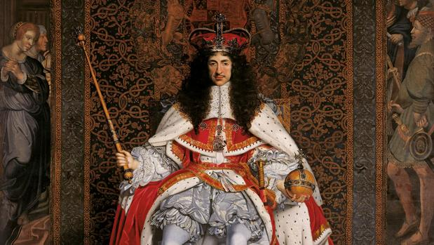 Carlos II, coronado en Westminster Abbey