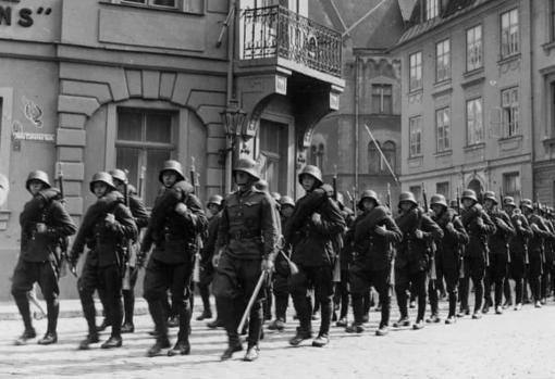 Soldados alemanes en Holanda