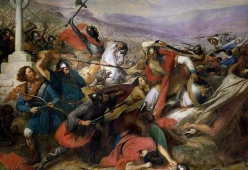 Carlos Martel, en la batalla de Poitiers