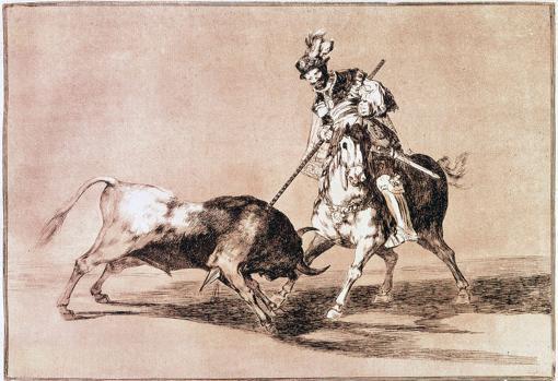 «El Cid Campeador lanceando otro toro», por Francisco de Goya
