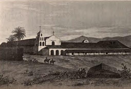 Misión de San Diego de Alcalá,, en California. Siglo XIX