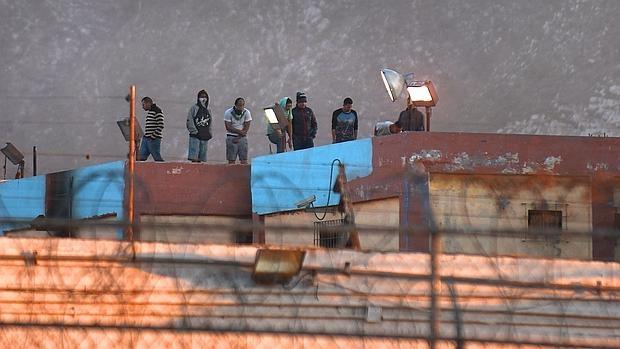 Fotografía donde se ven internos del penal de Topo Chico