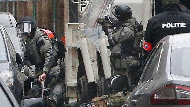 Imagen de la operación antiterrorista en Molenbeek