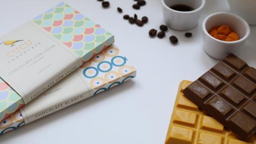 Las tabletas de chocolate con cúrcuma de Cucu Chocolate