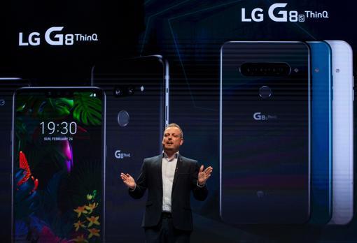 LG, durante la presentación del G8 ThinQ