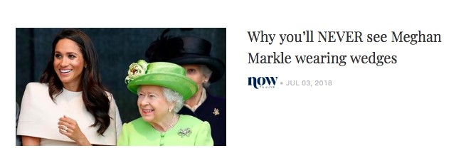 """The title reads """"Why you will NEVER see Meghan Markel in segments"""""""