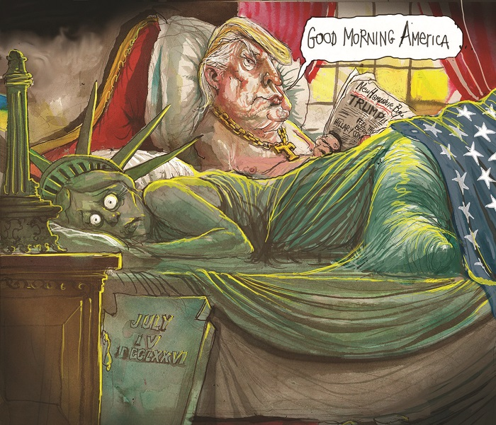 David Rowe cartoon on Donald Trump.