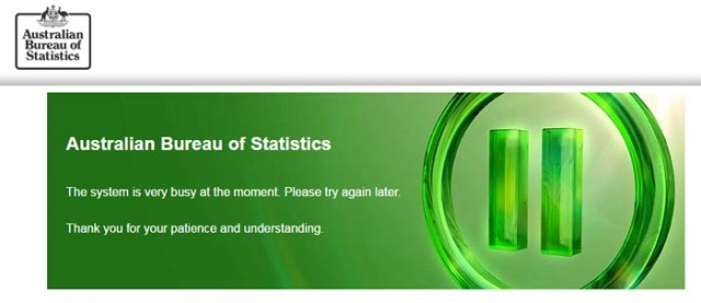 Error message appearing on census website August 9, 2016.