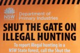 A fridge magnet calling for the public to 'dob in' illegal hunters.