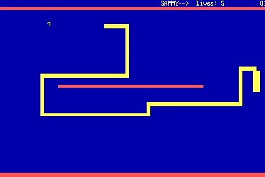 Screenshot of the DOS game Nibbles