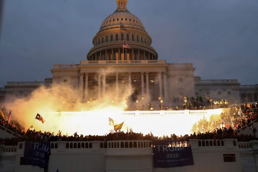 Protesters were called to Washington by Donald Trump in an unprecedented  moment in US history - ABC News