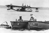 RAAF boats with landed Catalina