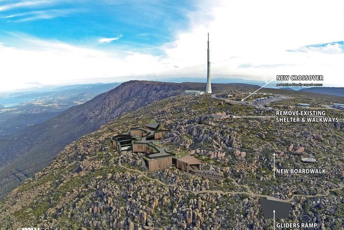Plans showing detail of cable car on Mount Wellington