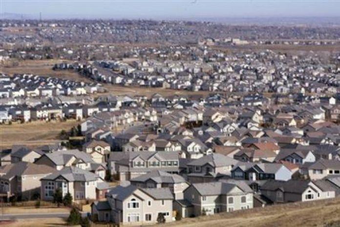 A view of a neighborhood in the City of Superior, Colorado, a Denver suburb on February 27, 2006