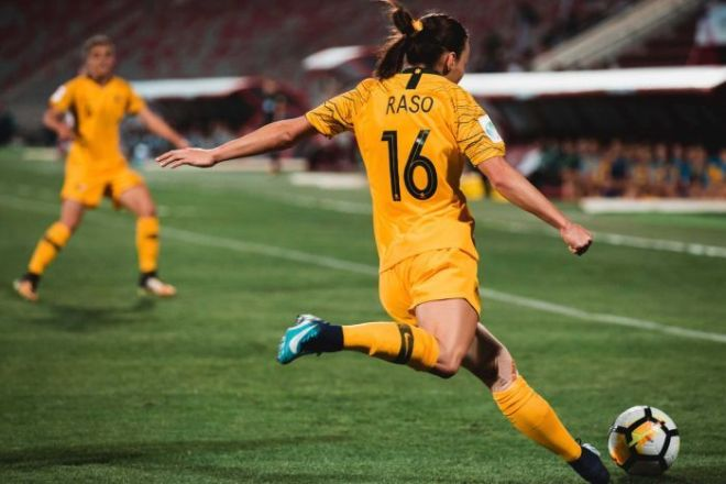 Hayley Raso had been capped three times by the Matildas before her horror injury.