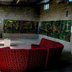 Urban Sofa Gallery Brisbane And Recliner Sets Toilet Becomes As Regional Artists Flush Out Alternative Man Stands In Industrial Art Space With Beautiful Red