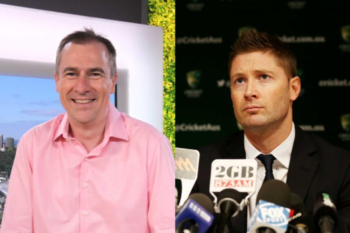Composite of Michael Clarke and Gerard Whateley