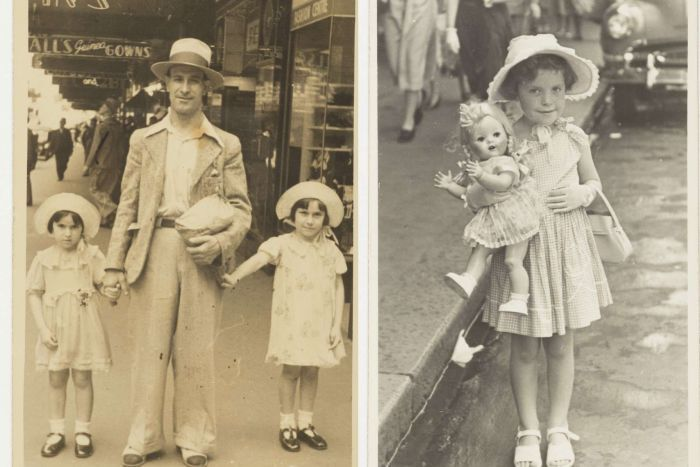 Two black and white photographs.